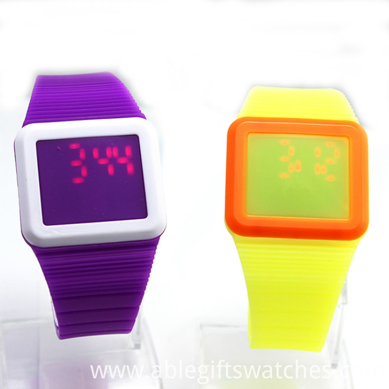 plastic led watches